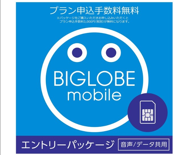BIGLOBEモバイルのエントリーパッケージ