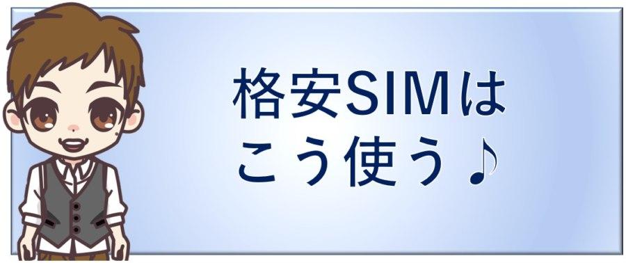 格安SIMはこう使う