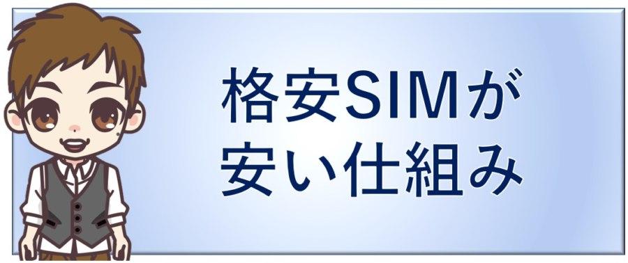 格安SIMが安い仕組み