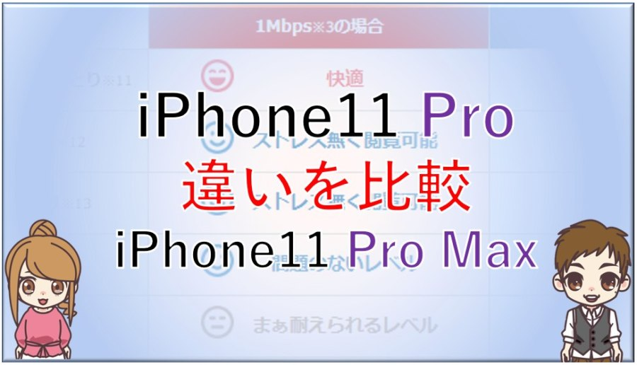 iPhone11ProとiPhone11ProMaxの違いを比較