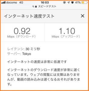 楽天モバイルのスーパーホーダイの1Mbpsの速度