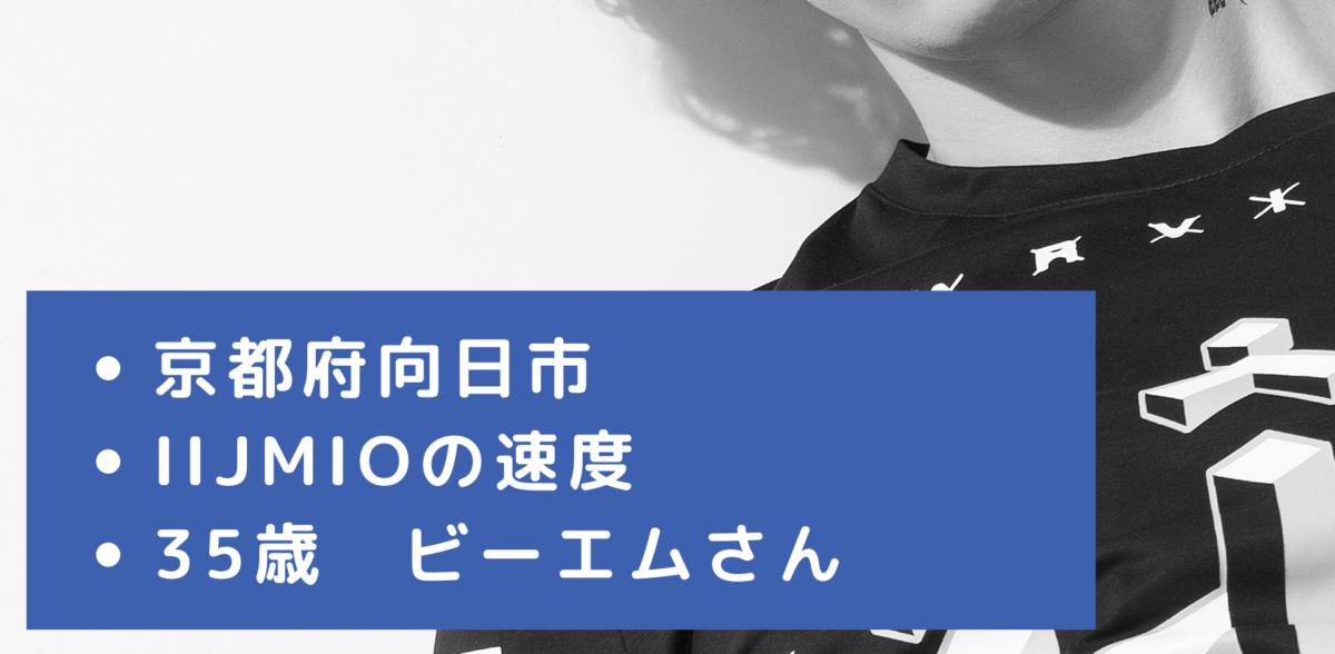 IIJmioの京都府向日市の速度