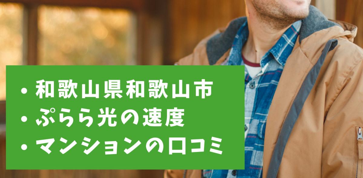 ぷらら光(NTTぷらら)の速度|和歌山県和歌山市のマンションプランの口コミ
