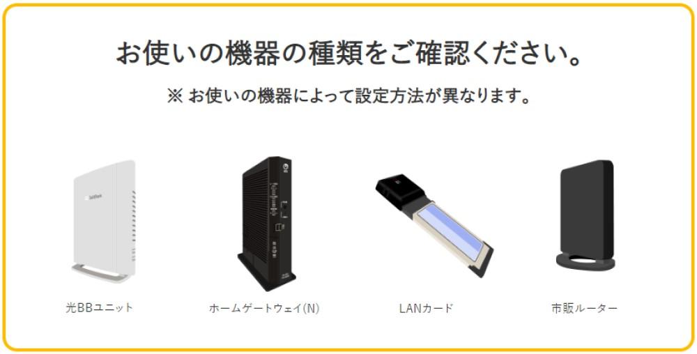 ソフトバンク光とWiFiルーター