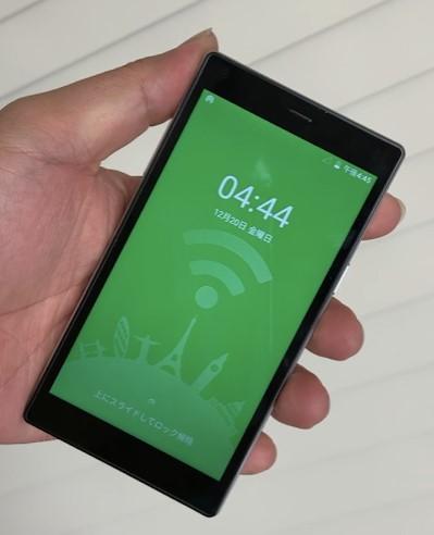 Mugen Wifiの端末G4の液晶画面