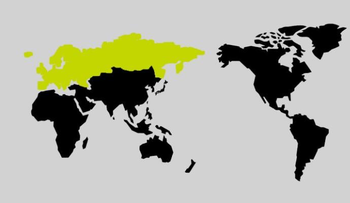 限界突破WiFiのヨーロッパの地図