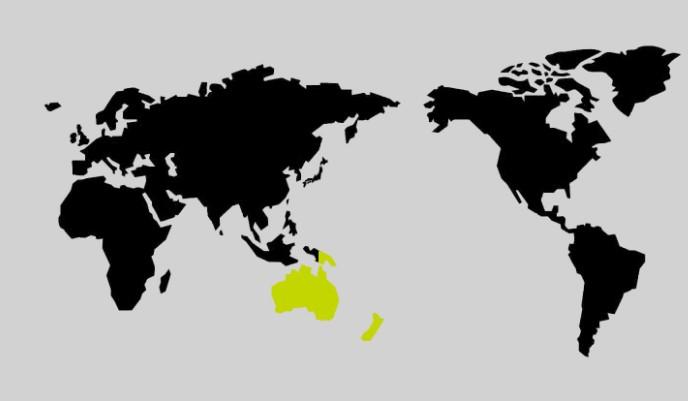 限界突破WiFiののオセアニアの地図