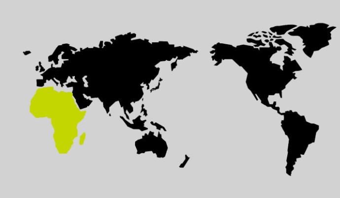 限界突破WiFiのアフリカの地図