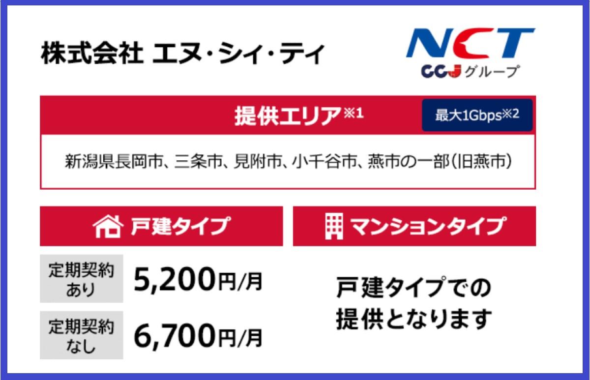 NCTのドコモ光タイプCの料金プラン