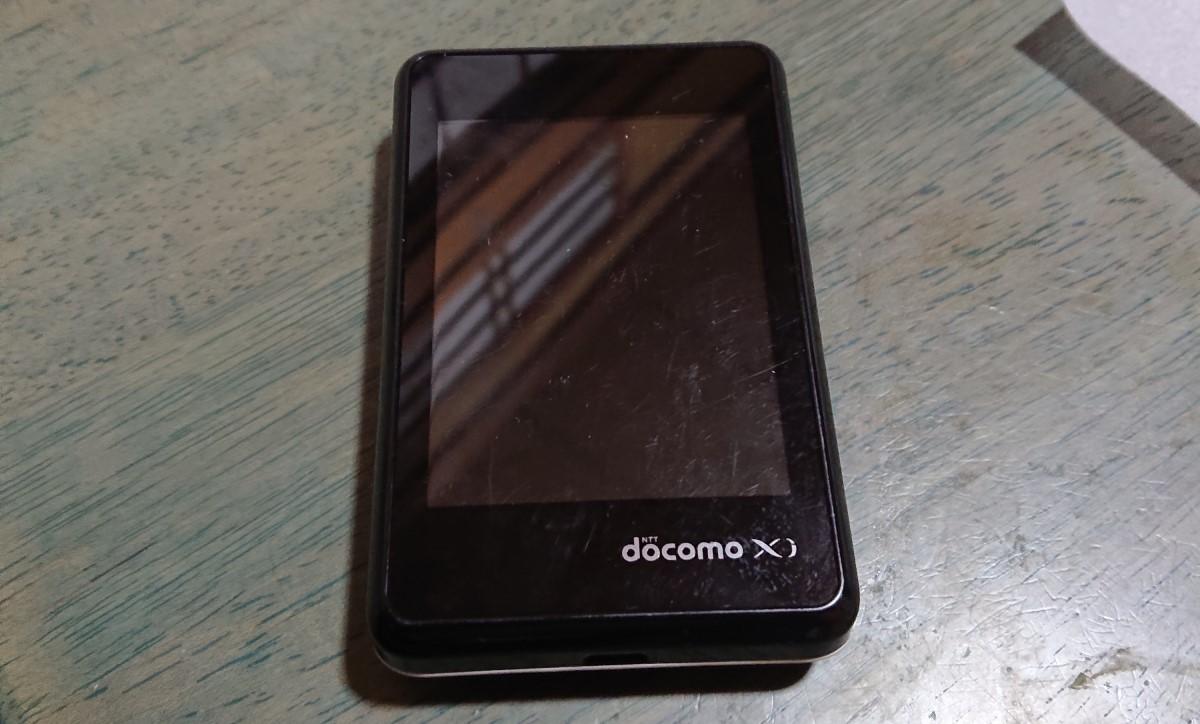 ドコモのモバイルWiFiL-02Fの液晶画面