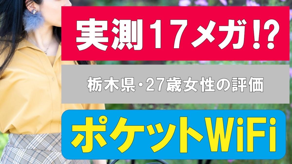 実測17メガ⁉ワイモバイルのポケットWiFiの速度を調査|栃木県の27歳女性の口コミ
