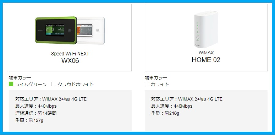WiMAXの速度と性能