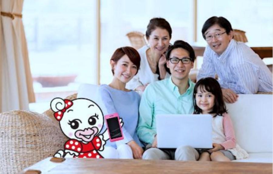 ちゅピCOM Air-LANの家族写真