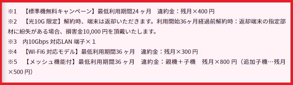 NCTおうちWi-Fiの違約金